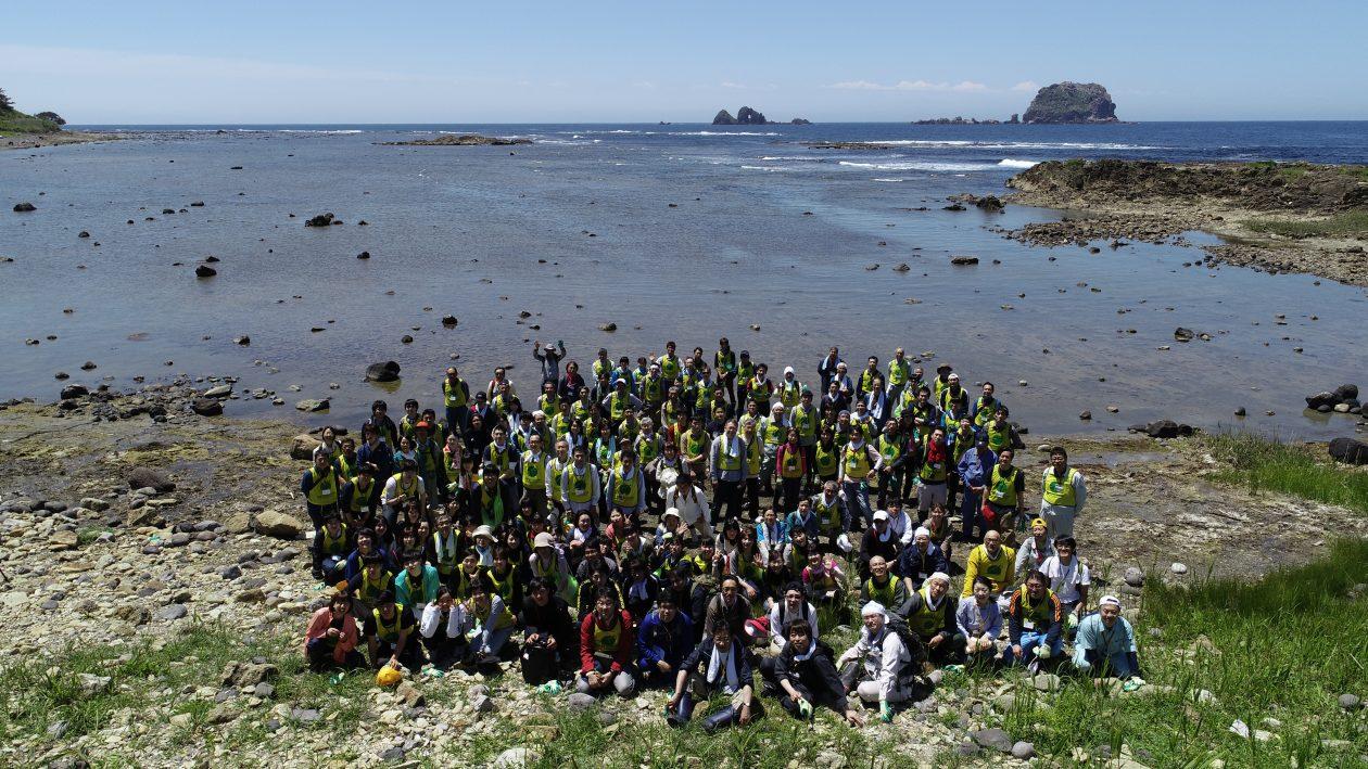 第18回飛島クリーンアップ作戦・2200kgの漂着ごみを回収!
